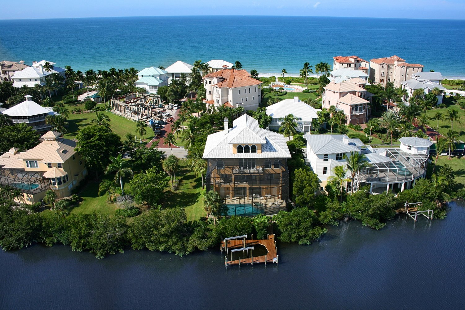 bonita springs on the water aerial view