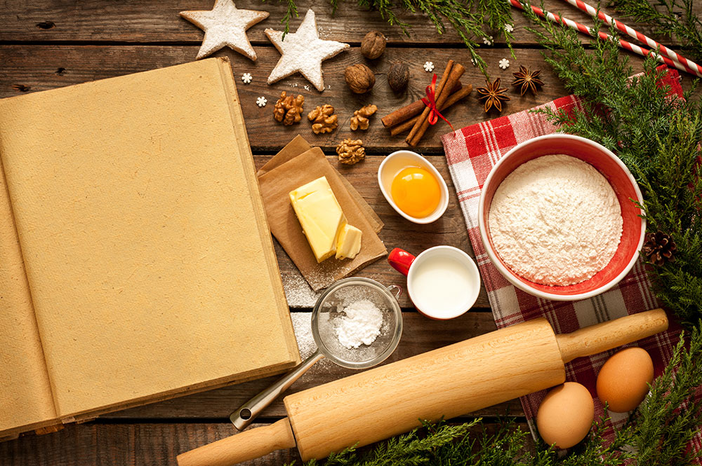 kitchen hacks for the holidays baking ingredients eggs flour cookies sugar