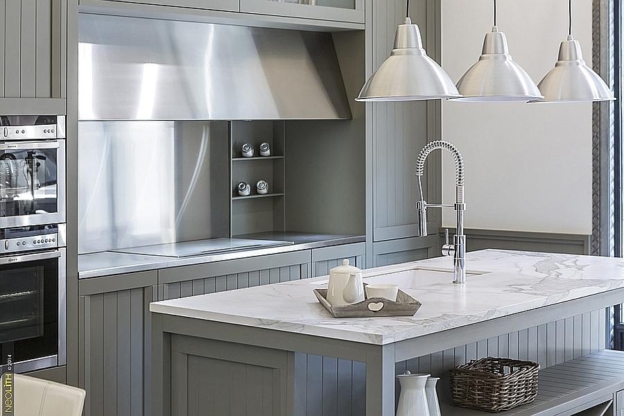 granite countertop porcelain counter quartz countertop white kitchen with stainless appliances